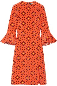 NET-A-PORTER Holly Fulton Irina Print Silk Crepe Dress