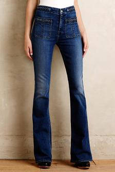 7 For All Mankind Braided High-Rise Flare Jeans