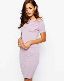 ASOS Bardot Off Shoulder Midi Dress
