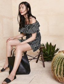 Madewell Rio Cover-Up Dress in Arrow Grid