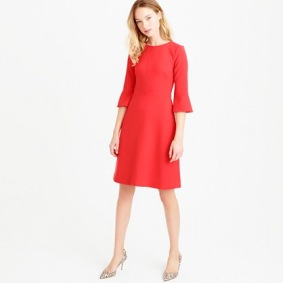J. Crew Bell Sleeve Crepe Dress