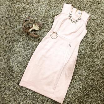 A blush-colored suede Calvin Klein dress from TJMaxx