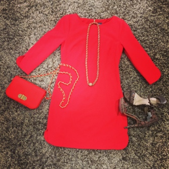 A bright and beautiful Vince Camuto dress from TJMaxx