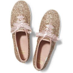 Kate Spade New York Keds Glitter Lace-Up Sneakers